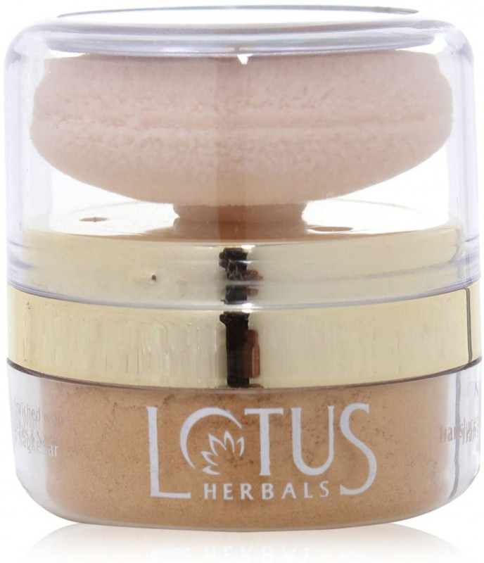 Lotus Naturalblend Translucent Loose Powder with Auto-Puff SPF-15 (Sunset Beach -820) Compact - 10 g(Sunset Beach)