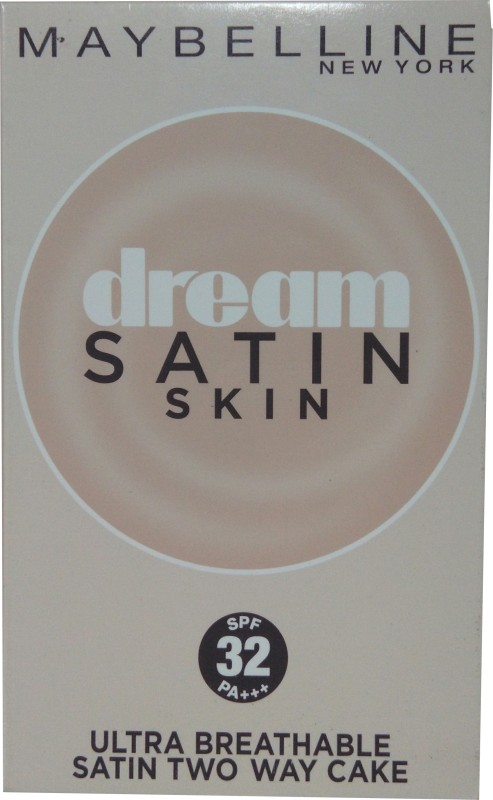 Maybelline Dream Satin Skin Two Way Cake PO3 (SPF 32 PA+++) Compact - 9 g(sandy brown)