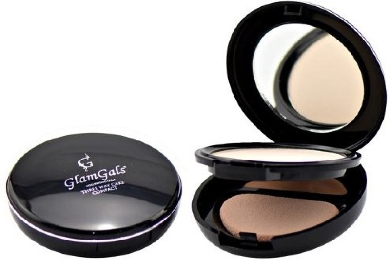 GlamGals Three Way Cake Compact, SPF 15 Compact - 14.5 g(Beige)
