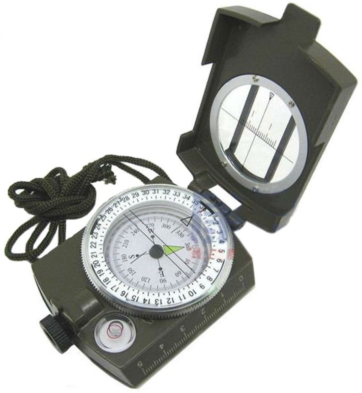 JM Stand With Metal Lens Compass(Green)