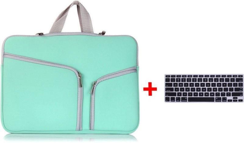 LUKE Zipper Briefcase Soft Neoprene Handbag Sleeve Bag Cover Case for MACBOOK PRO 13.3 inch With Free Keyboard Protector Combo Set