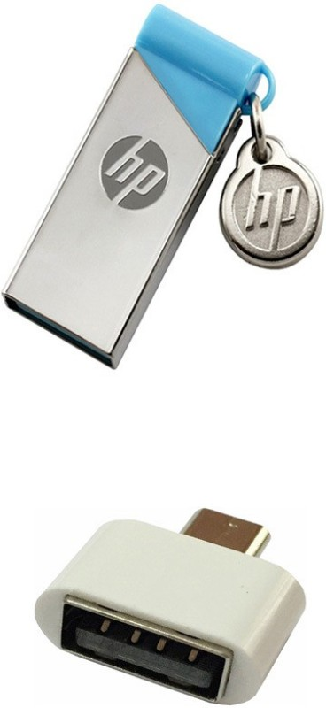 HP 8 GB V215B Pen Drive with OTG Adapter Combo Set