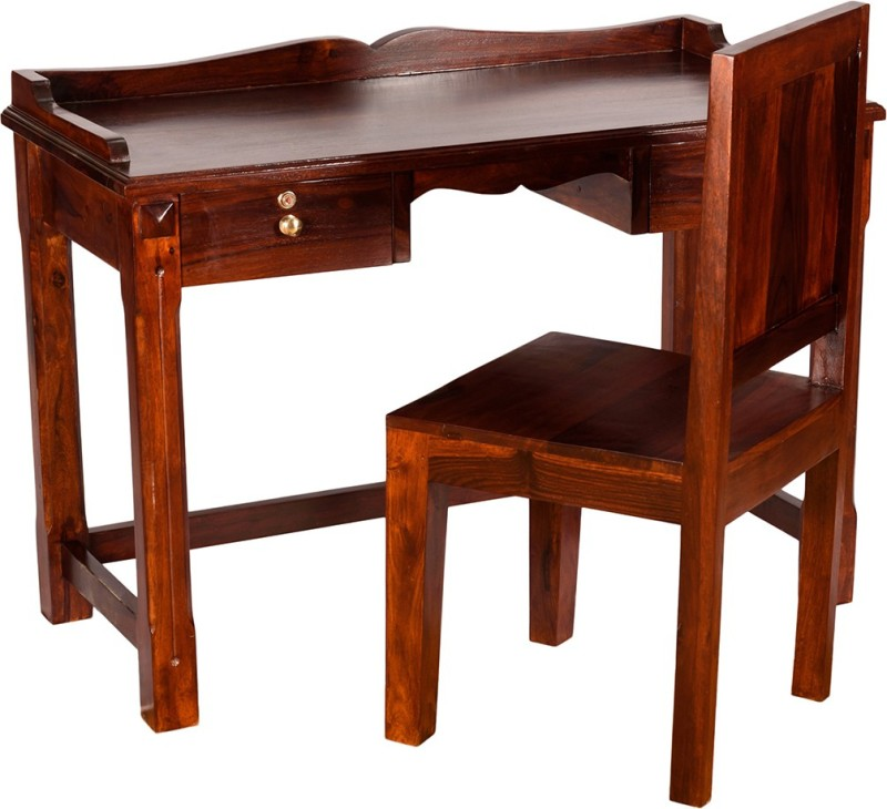 Induscraft Solid Wood Computer Desk(Straight, Finish Color - Brown)