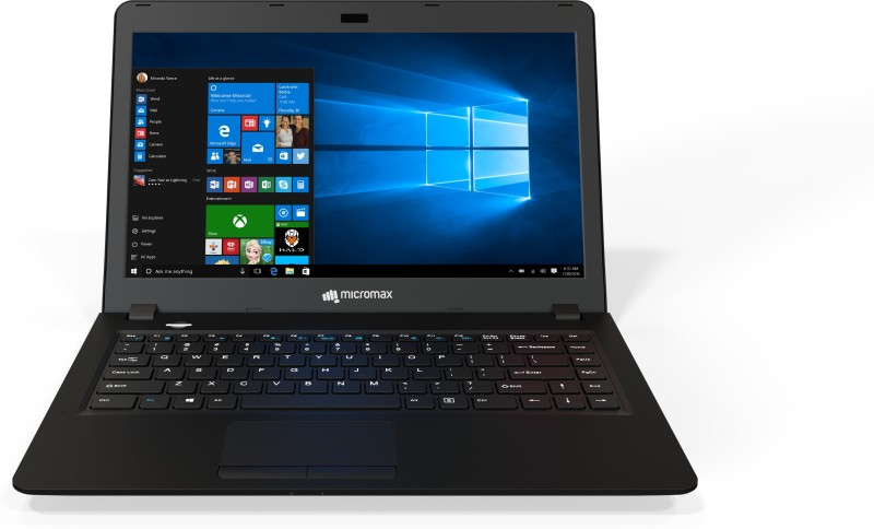 Micromax Ignite Pentium Quad Core 4th Gen - (4 GB/1 TB HDD/Windows 10 Home) LPQ61 Laptop(14 inch, Black) image