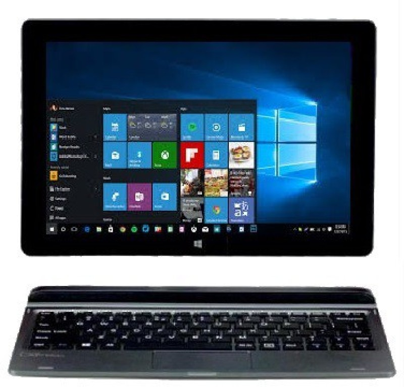 Micromax Canvas Wi-Fi Atom Quad Core - (2 GB/32 GB EMMC Storage/Windows 10 Home) LT666W 2 in 1 Laptop(10.1 inch, Grey) image