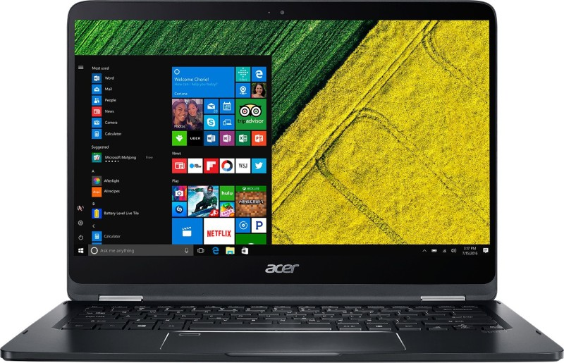 Acer Spin 7 Core i7 7th Gen - (8 GB/256 GB SSD/Windows 10 Home) SP714-51 Laptop(14 inch, Black)