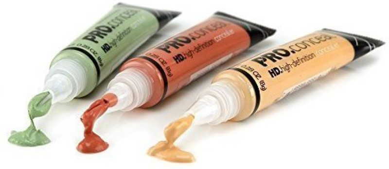 L.A. Girl pro Conceal Hd  Concealer(Green, Orange, Yellow, 8 g)