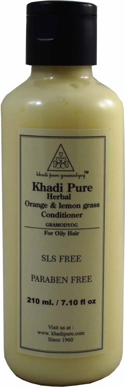 Khadi Pure NATURAL HERBAL ORANGE LEMONGRASS HAIR CONDITIONER- SLS & PARABEN FREE(210 ml)