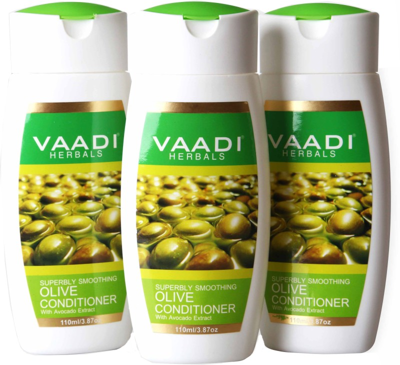 Vaadi Herbals Olive Conditioner with Avocado Extract - Pack of 3(110 ml) image