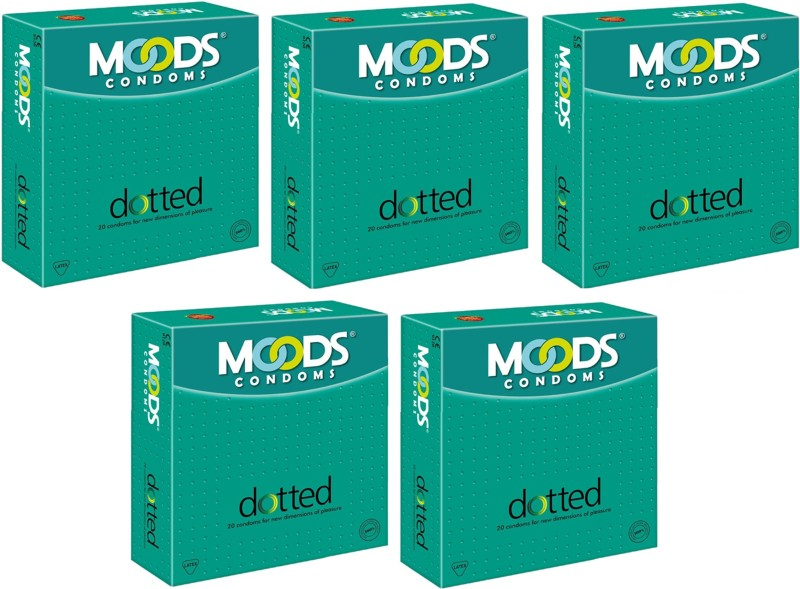Moods Dotted Condom(Set of 5, 100S)