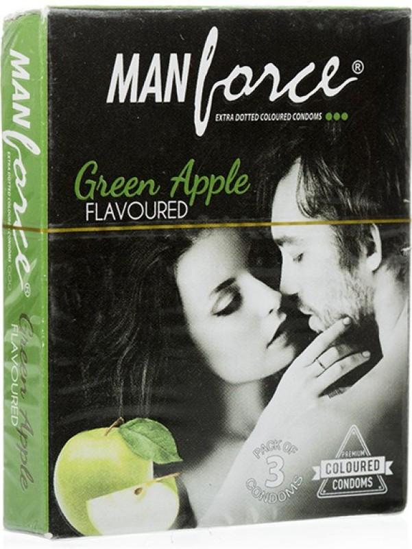 Manforce Manforce Green Apple Condoms 3S (Pack Of 4) Condom(Set of 3, 12S)