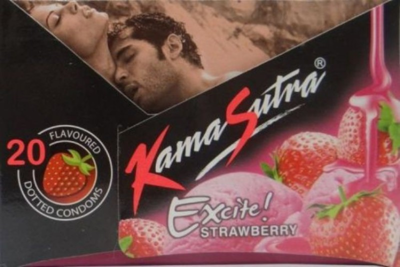 KamaSutra Strawberry Condom(Set of 2, 20S)