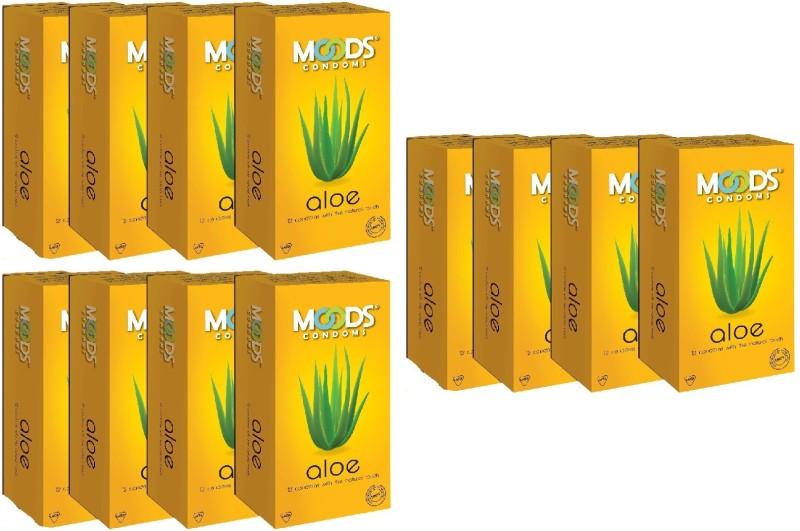 Moods Aloe 144pc (12X12) Condom(Set of 12, 144S)