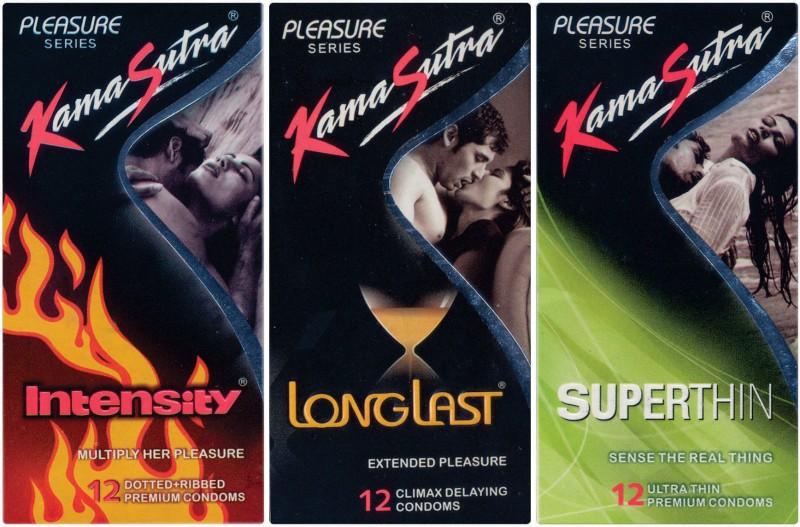 KamaSutra Intensity, Longlast, Superthin Condom(Set of 3, 36S)