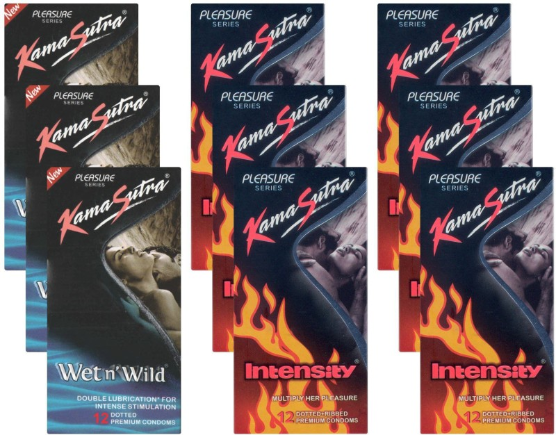 KamaSutra Wet n Wild, Intensity - UPFK200254 Condom(Set of 9, 108S)