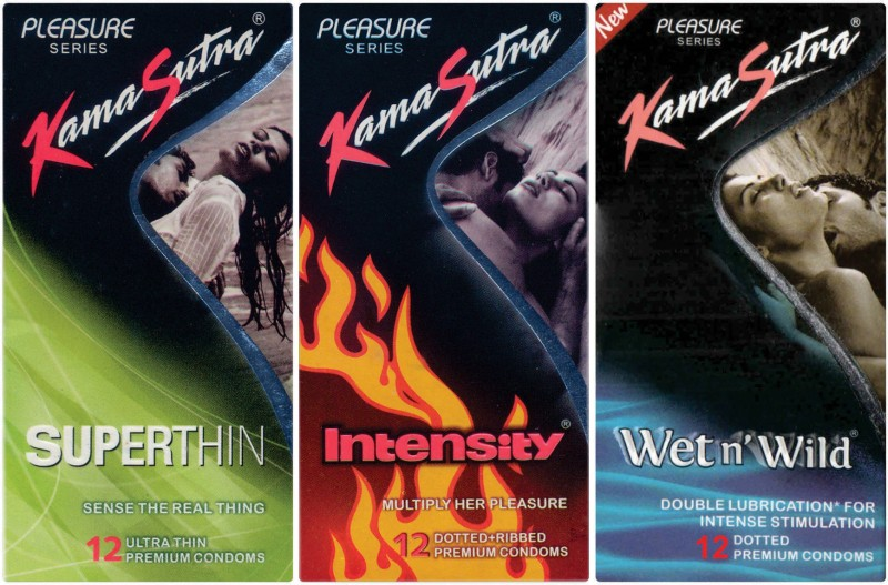 KamaSutra Superthin, Intensity, Wet n Wild Condom(Set of 3, 36S)