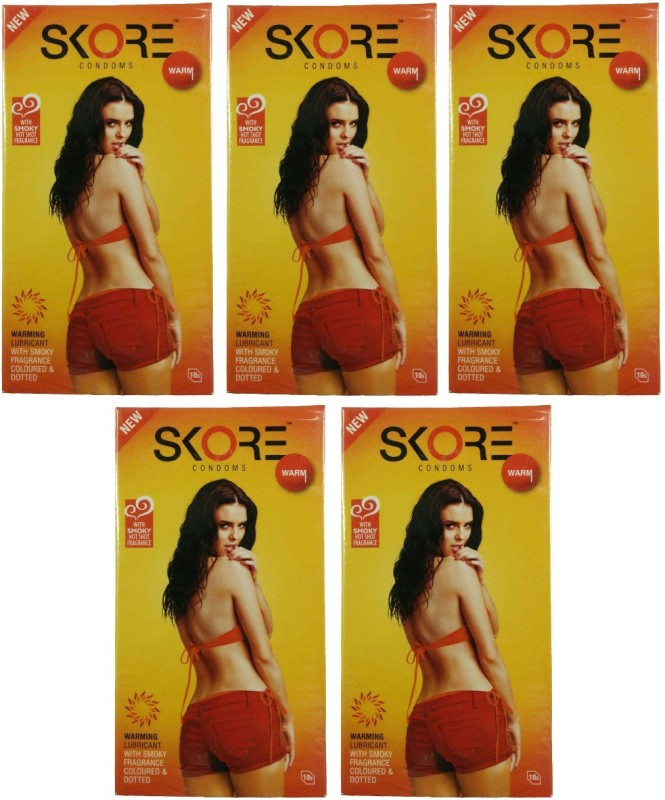 Skore Warm Condom(Set of 5, 50S)