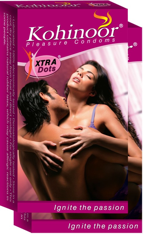 Kohinoor Xtra Dots Condom(Set of 2, 10S)