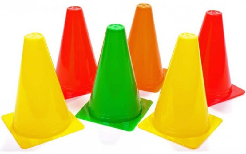 Sahni Sports Cone Marker Pack of 6(Red, Yellow, Orange, Green)