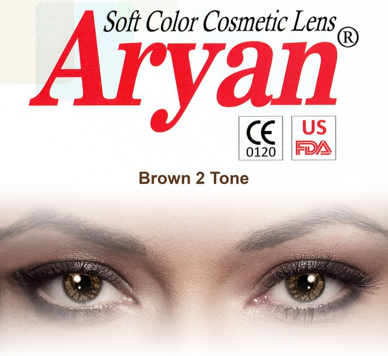 Aryan 2 Tone Brown By Visions India Yearly Contact Lens(-9.00, Brown, Pack of 2)