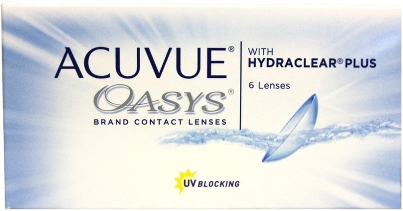 Acuvue Oasys -6.00 Pwr By Visions India Bi-weekly Contact Lens(-6.00, Clear, Pack of 6)