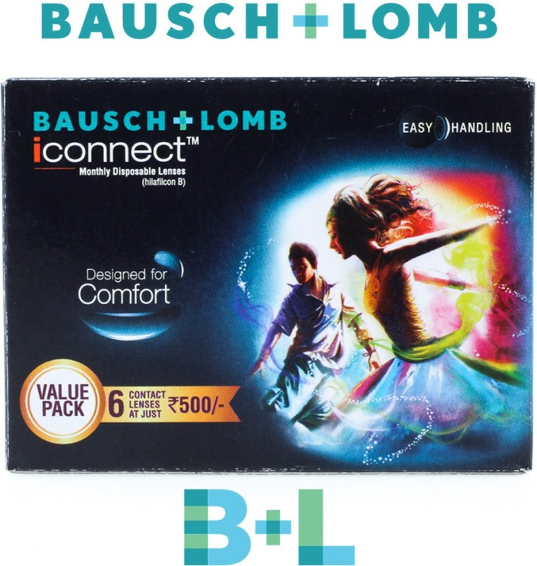 Bausch & Lomb Iconnect Monthly Contact Lens(-5.50, Clear, Pack of 6)