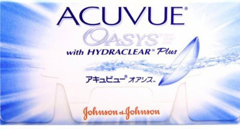 Johnson & Johnson Acuvue Oasys Bi-weekly Contact Lens(-2, Transparent, Pack of 6)