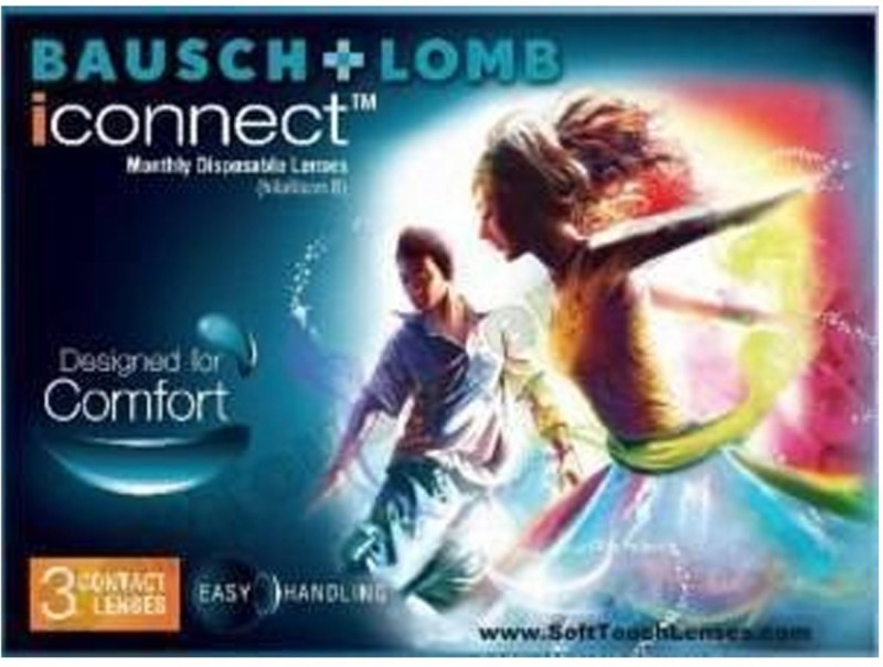 Bausch & Lomb iCONNECT Monthly Contact Lens(-5.50, Transparent, Pack of 3)
