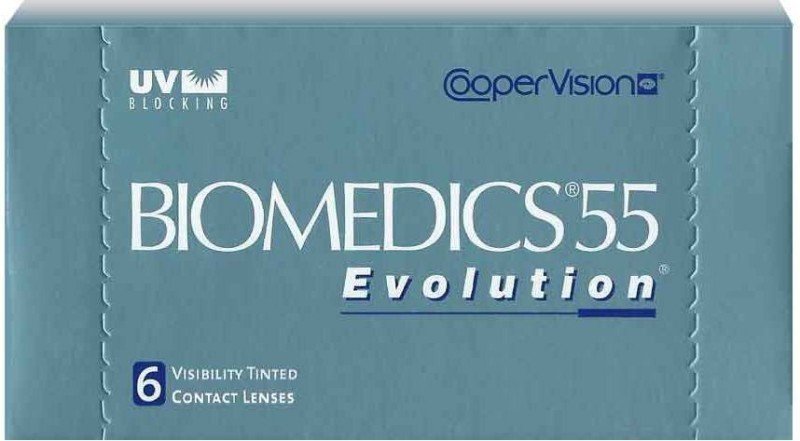 CooperVision Biomedics 55 Monthly Contact Lens(-1.5, Plano Clear, Pack of 6)