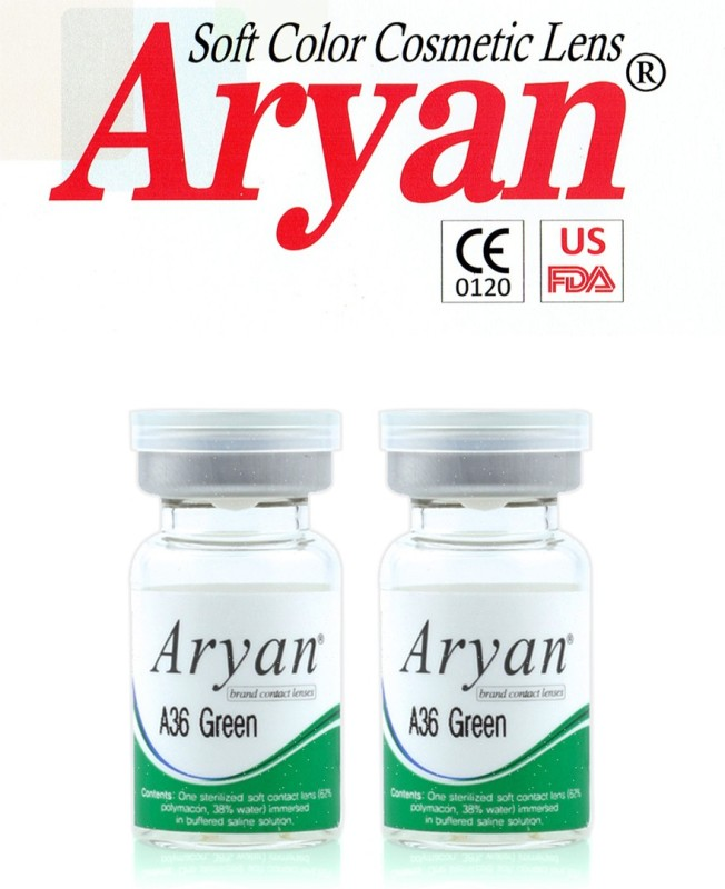 Aryan Tri Tone Green Visions India Yearly Contact Lens(-4.50, Green, Pack of 2)