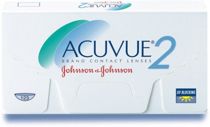 Johnson & Johnson ACUVUE 2 -3.25 Bi-weekly Contact Lens(-3.25, Transparent, Pack of 6)