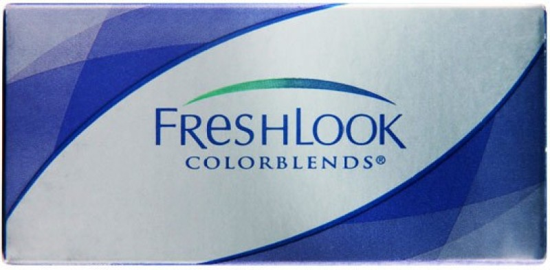 Ciba Vision Freshlook Coloublends Monthly Contact Lens(0.00, Green, Pack of 2)