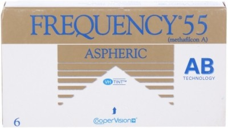 Cooper Vision Frequency 55 Monthly Contact Lens(-3.5, Transparent, Pack of 6)