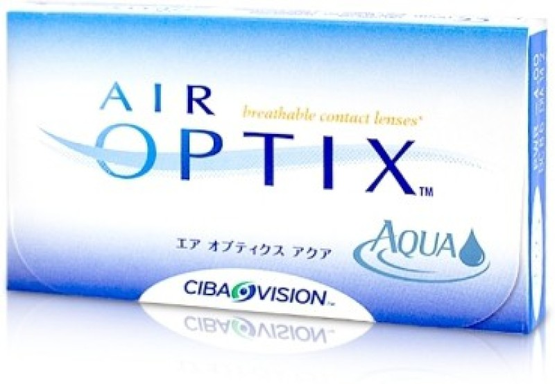 Ciba Vision Air Optix Aqua Monthly(-9, Colored Contact Lenses, Pack of 6)