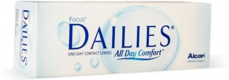 Ciba Vision Focus Dailies Daily Contact Lens(-4.5, Clear, Pack of 30)