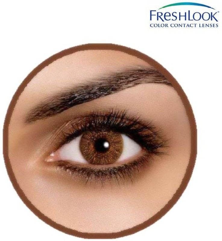 Ciba Vision Freshlook Color Blends Monthly Contact Lens(0, Freshlook Colors Pure Hazel, Pack of 2)