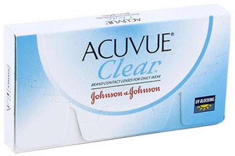 Johnson & Johnson J&J_AcuvueClear(BC-8.8)-4.75 Monthly Contact Lens(-4.75, Transparent, Pack of 6)