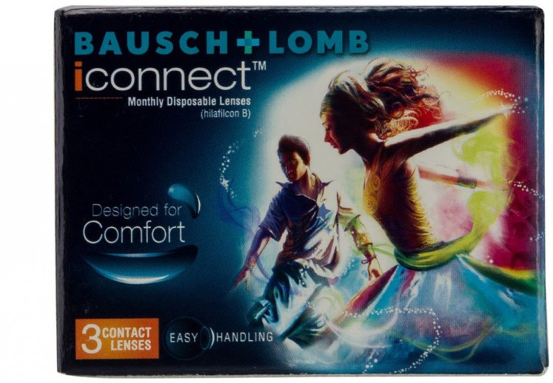 Bausch & Lomb iconnect Monthly Contact Lens(-4.75, Transparent, Pack of 3)