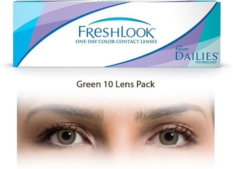Ciba Vision Freshlook Green One Day ColorblendsBy Visions India Daily Contact Lens(-1.50, Green, Pack of 10)