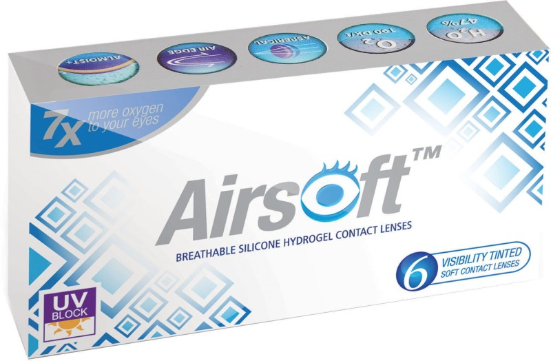 Airsoft 6pk Monthly Contact Lens(-1.75, Light Blue, Pack of 6)