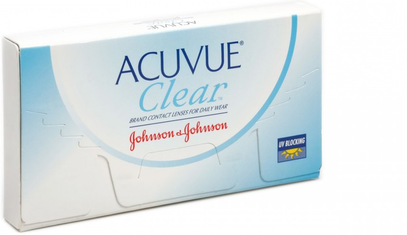Johnson & Johnson Acuvue Clear Monthly Contact Lens(-1.25, Transparent, Pack of 6)