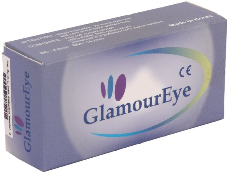 Glamour Eye TRI-TONE COOL-TURQUOISE (MONTHLY DISPOSABLE OR 90 TIMES WEARING) Monthly(2.75, Colored Contact Lenses, Pack of 2)