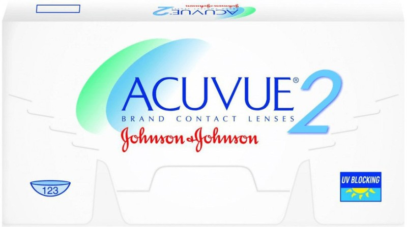 Johnson & Johnson J&J_Acuvue2(BC-8.7)6lens-0.50 Bi-weekly Contact Lens(-0.5, Transparent, Pack of 6)