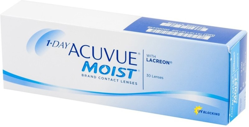 Acuvue Moist Fresh Stock New MRP -8.00 Pwr By Visions India Daily Contact Lens(-8.00, Clear, Pack of 30)