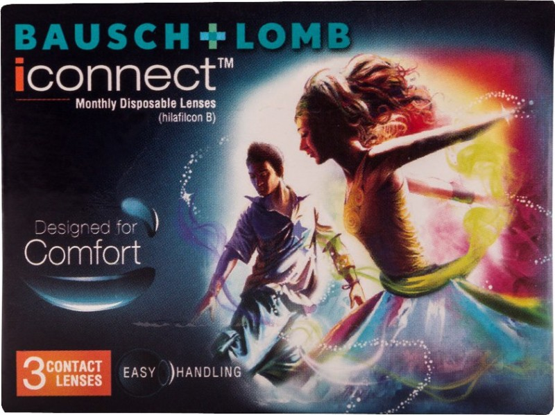 Bausch & Lomb iConnect Monthly Contact Lens(-4.5, Clear, Pack of 3)
