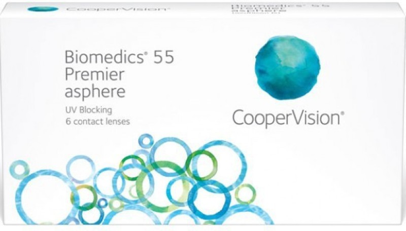 CooperVision Biomedics 55 With LensCase By VisionsIndia Monthly Contact Lens(-2.25, Clear, Pack of 6)