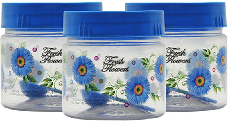 GPET Print Magic Container - Blue - Set of 3  - 250 ml Plastic Food Storage(Pack of 3, Blue)