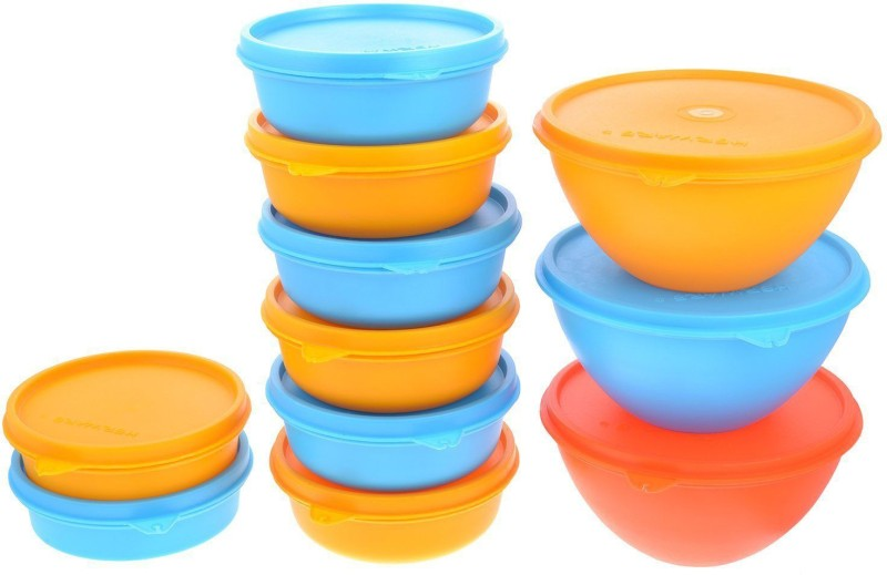 Herware 104-10  - 6300 ml Plastic Grocery Container(Pack of 11, Multicolor)