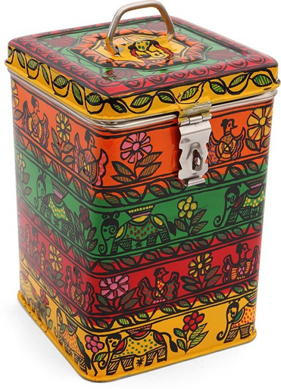 Kaushalam Celebration  - 3 L Steel Grocery Container(Multicolor)