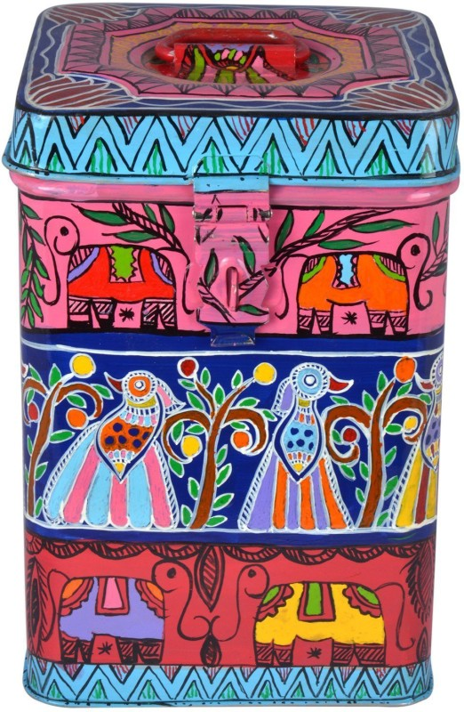 Kaushalam Jungle Fun  - 3 L Steel Grocery Container(Multicolor)